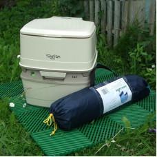 Комплект туалет для дачи (палатка / плитка / туалет)
