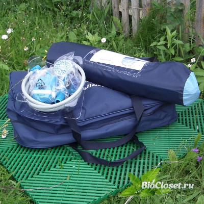 Комплект для кемпинга (палатка / плитка / туалет / душ) купить в интернет магазине BioCloset.ru