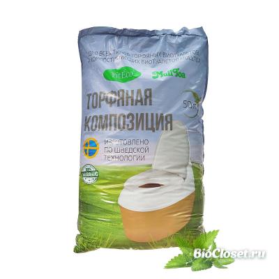 Торфяная композиция Piteco 50 литров купить в интернет магазине BioCloset.ru