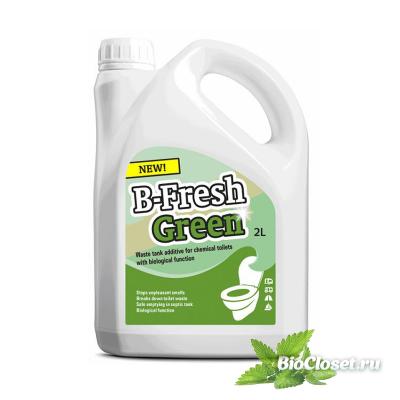 Жидкость для биотуалета B-Fresh Green купить в интернет магазине BioCloset.ru