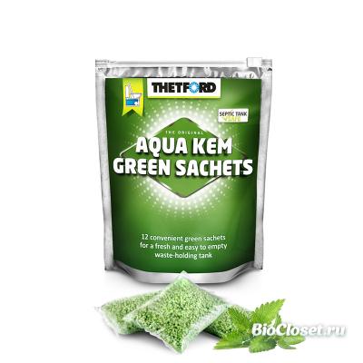 Порошок для биотуалета Thetford Aqua Kem Green Sachets купить в интернет магазине BioCloset.ru